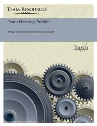 Team Assessment Report for Measuring Team Meeting Management